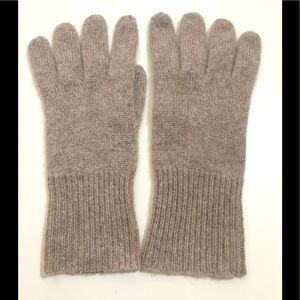 Halogen Soft 100% Cashmere Rib Knit Gloves